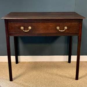 George III Oak Side Table