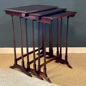 Edwardian Nest of Three Mahogany Tables