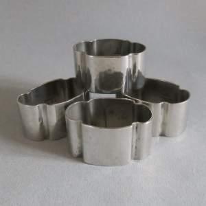 Set of Four Liberty Tudric Pewter Napkin Rings