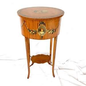 Edwardian Sheraton Revival Lamp Or Side Table
