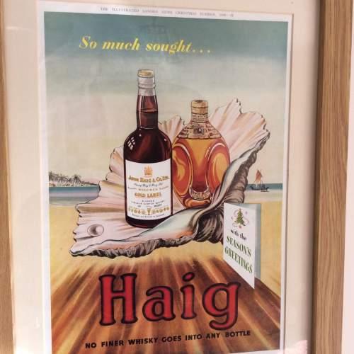 Illustrated London News 1949 Haig Whisky Framed Advert image-2
