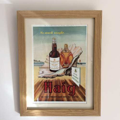 Illustrated London News 1949 Haig Whisky Framed Advert image-1