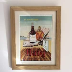 Illustrated London News 1949 Haig Whisky Framed Advert