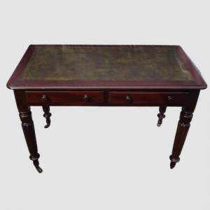 Victorian Edwards and Roberts Leather Top Mahogany Writing Table