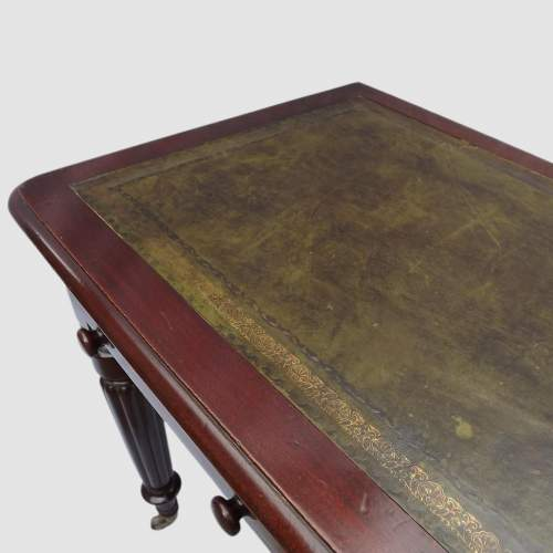 Victorian Edwards and Roberts Leather Top Mahogany Writing Table image-3