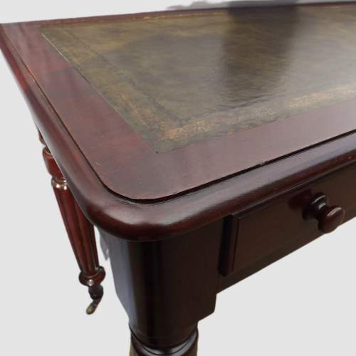 Victorian Edwards and Roberts Leather Top Mahogany Writing Table image-4