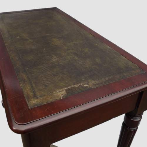 Victorian Edwards and Roberts Leather Top Mahogany Writing Table image-6