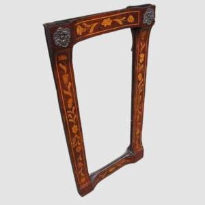 18th Century Dutch Floral Marquetry Walnut Mirror