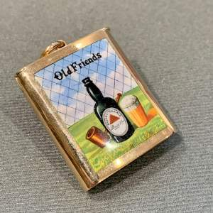 Rare Edwardian 15ct Gold and Enamel BASS Old Friends Vesta