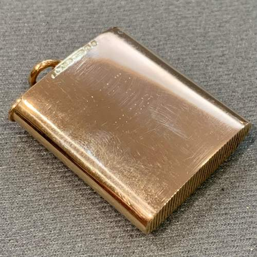 Rare Edwardian 15ct Gold and Enamel BASS Old Friends Vesta image-5