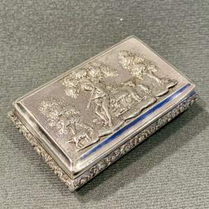 George IV Silver Snuff Box with Pastoral Scene