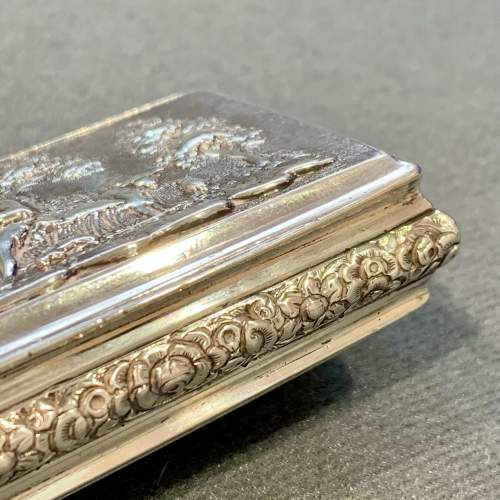 George IV Silver Snuff Box with Pastoral Scene image-4