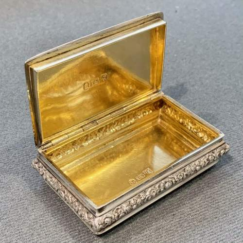 George IV Silver Snuff Box with Pastoral Scene image-5