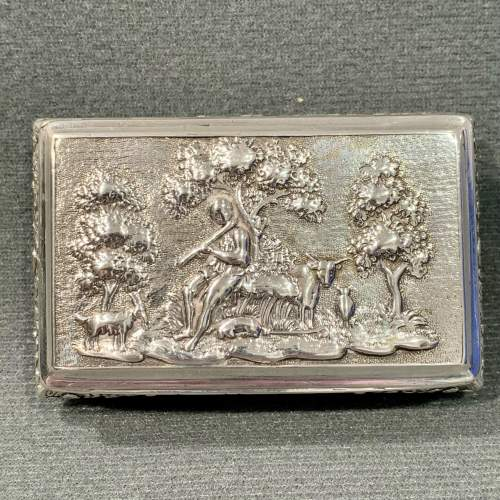 George IV Silver Snuff Box with Pastoral Scene image-2