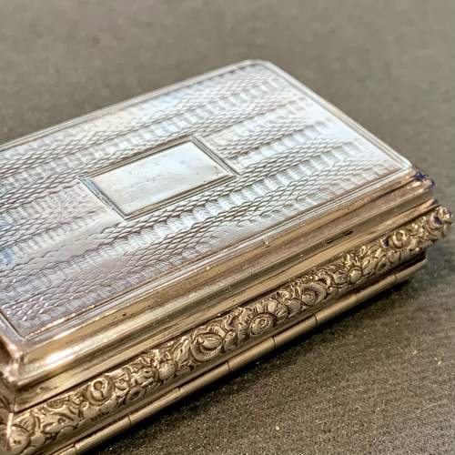 George IV Silver Snuff Box with Pastoral Scene image-6