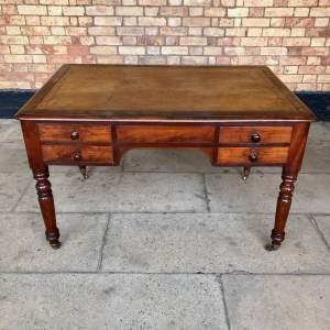 19th Century Mahogany Partners Double Sided Library Table