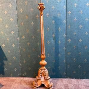 19th Century Floor Standing Pricket Candlestick