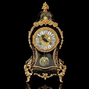 19th Century French Boulle and Ormolu Mantel Clock