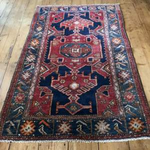 Old Hand Knotted Kurdish Rug Village Piece Superb Colours