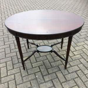 Edwardian Mahogany Oval Table