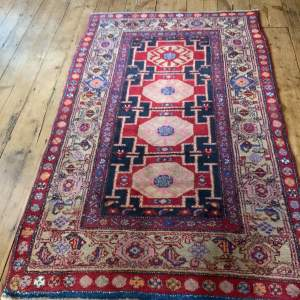 Superb Quality Old Hand Knotted Persian Rug Kolyai Very Unusual