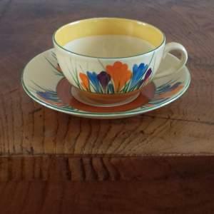 Clarice Cliff Bizarre Autumn Crocus Cup Saucer