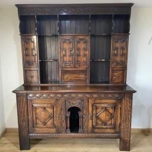 Oak Dresser Late 18th Century Revival with Superb Hand Carved Detail