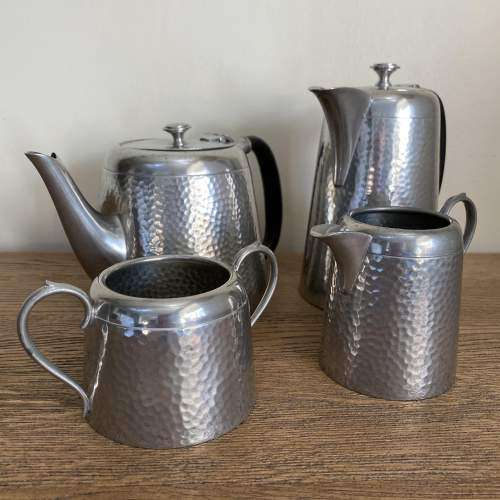 Pewter Tea and Coffee Set by Argent Pewter Birmingham image-1