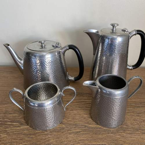 Pewter Tea and Coffee Set by Argent Pewter Birmingham image-3