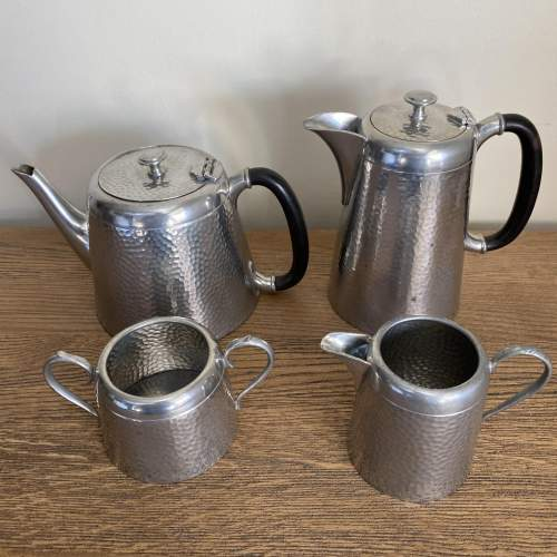 Pewter Tea and Coffee Set by Argent Pewter Birmingham image-5
