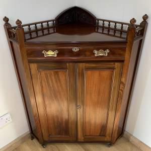Floor Standing Corner Cabinet - Aesthetic Movement Circa 1880