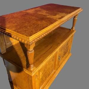 A Victorian Oak Buffet Table