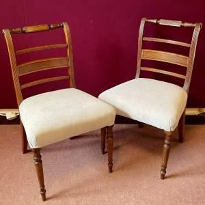 Pair of Regency Mahogany Dining Chairs