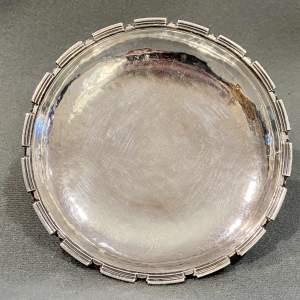 George V Silver Dish by Omar Ramsden