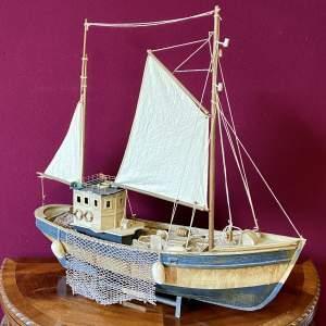 Vintage Model of a Fishing Trawler