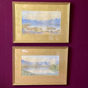 Pair of 19th Century Watercolour Paintings of the Lake District
