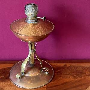 Early 20th Century Copper and Brass Oil Lamp Base