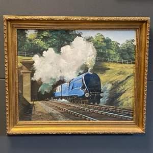Original Oil Painting of LNER Falcon Locomotive