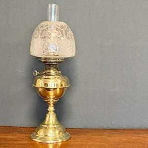 19th Century Brass Oil Lamp
