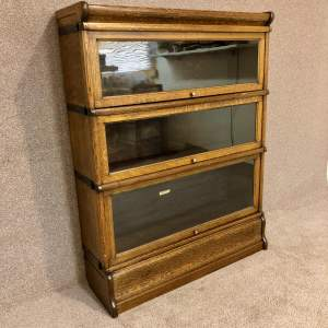 Globe Wernicke Oak Sectional Bookcase