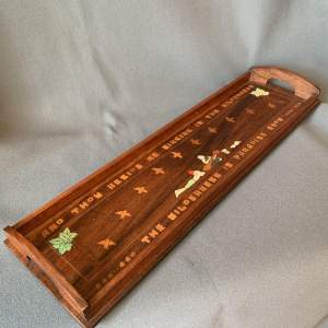 20th Century Anglo-Indian Rosewood Inlaid Tray