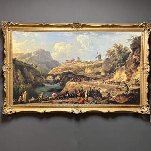 Oleograph after the Joseph Vernet Painting Constucting a Road