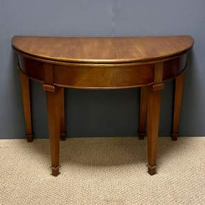 Mahogany Demi Lune Foldover Table