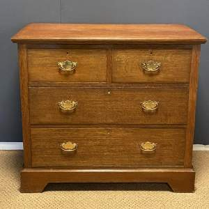 20th Century Maple and Co Oak Chest of Drawers