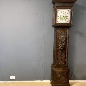 Early 19th Century Carved Oak Lincolnshire Longcase Clock