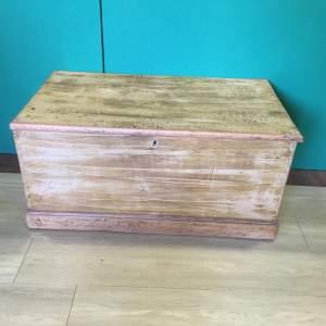 Circa 1920 Large Rustic Wooden Blanket Box
