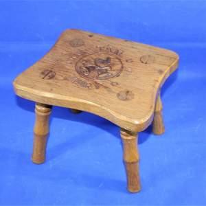 Wren Craftsmen of Nottinghamshire Light Oak Stool