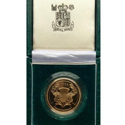 1986 Elizabeth II Gold Proof Double Sovereign. image-1