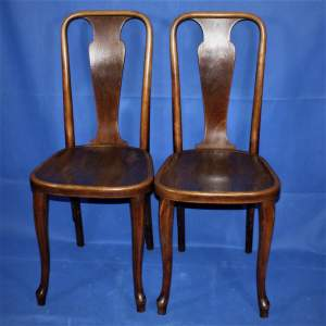 A Pair of Early 20th Century Thonet Bentwood Chairs