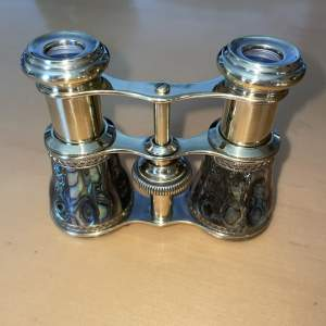 Pair Of Exquisite Victorian  Abalone Shell Opera Glass's